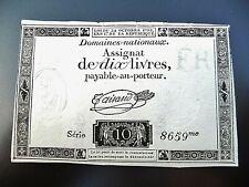 assignat de 10 LIVRES 1792  série 8659