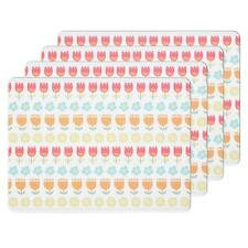 Kitchen Craft Floral Cork Back Laminated Placemat Set of 4 Tableware New Kitchen