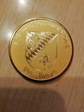 Bundeswehr Coin GebJgBrig23 1./GebLogBtl 8 selten Gravur nicht Gepresst gülden.