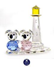 "[Special Offer] ""Koalas & Lighthouse"" Austrian Crystal Figurine was Au$80.00"