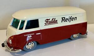 Schuco Micro Racer VW Volkswagen Bulli #1029 Fulda Advertising Bus Samba tyres