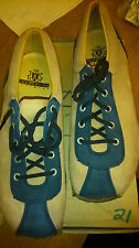 GEORGE COX VINTAGE ROCK 70 80 RARE CREPE RUBBER CREEPERS UK 8 SHOE BOOT