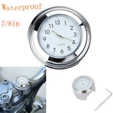 Universal 7/8 Motorrad Lenkeruhr wasserdichte Watch Stick Uhren gesperrt Lenker