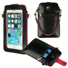"Black Screen Shoulder Pouch Carry Case for iPhone 6S Plus 5.5"" /LG G Vista 2"
