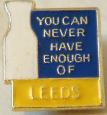 Leeds United vous ne peut jamais obtenir suffisamment de badge broche épingle en Doré 17 mm x 20 mm
