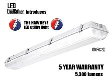 NEW 4 foot LED Shoplight Room/Garage Work Light Fixture 5380 Lumens 44 Wat 5000K