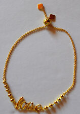 18k Gold Plated Sterling Silver Love Bracelet Adjustable (1pc)-Free US Shipping