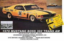 CD_2697 #16 George Follmer  1970 Mustang  1:64 scale decals  ~OVERSTOCK~