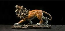 15'' top brass copper fine workmanship home decor auspicious animal beast lion