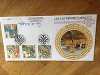 GB UK Benham Silk FDC St Columba 1997 BLCS125b signed by John McIndoe numbered