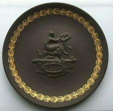 """Wedgwood 1971 Black Basalt & Gold """"Mother"""" Plate"""