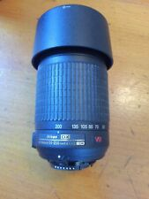 Nikon AF-S NIKKOR 55-200mm DX VR 1:4-5.6G ED Lens. With HB-37 Bayonet Hood.