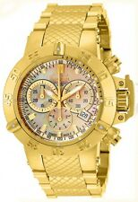 New Ladies  Invicta 14597 Jason Taylor 42mm Gold Dial Bracelet Watch