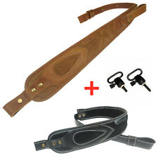 Ammo Gun Leather Sling,Rifle Shoulder Straps Padded with Handle Cobra Style New