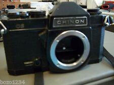 VINTAGE CHINON CS SLR 35mm FILM CAMERA w/ MINOLTA ADJUSTABLE NECK STRAP bundle