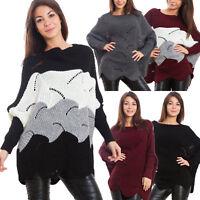 Maglione donna ampio traforato pullover pull inverno pipistrello sexy VB-8126