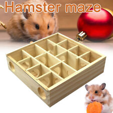 Pet Hamster Animal Play Toys Wooden Maze Tunnel Gerbil Rat Small Mouse Mice