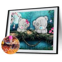 2 Bears 5D Diamond Painting Embroidery DIY Craft Cross Stitch Home Decor $S1