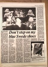 ABBA 'blue Swede shoes' 1977 ARTICLE / clipping