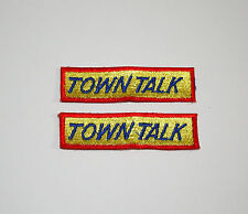 2 Bruan's Town Talk Bakers Bread Products Specialty Bakery Patch 1970s NOS