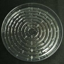 "5 Pieces 16"" Plant Saucers Vinyl Plastic Tray Clear Other Quantities Listed Sep"