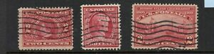 US Scott #367 #370 #372 1909 Commems Used, solid, F+/VF