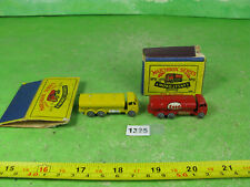 scarce vintage diecast matchbox esso road tanker 11a & yellow example 1325