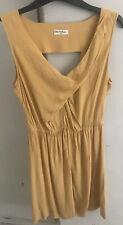 Miss Selfridge Mustard Ochre Yellow Summer Dress Size 10