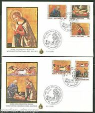 VATICAN CITY 1990 CHRISTMAS SET OF GOLDEN SERIES FIRST DAY COVER
