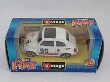 [PH3-12] BBURAGO BURAGO 1/43 STREET FIRE FIAT ABARTH 500 SPORT BIANCA N.95 ELF