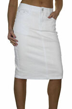 Cotton Straight, Pencil Casual Plus Size Skirts for Women