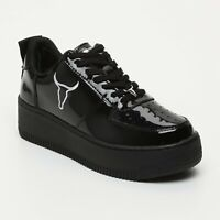 Windsor Smith 39 Racerr Black Nero Patent Vernice Windsorsmith sneakers Platform