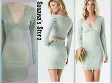NWT bebe OPEN BACK DEEP V  DRESS SIZE M Gorgeous DRESS MSRP$150.00!!