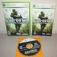 CALL OF DUTY 4 Modern Warfare XBOX 360 FPS BLACK LABEL Complete w/Manual
