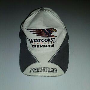 West Coast Eagles 2006 Premiers Hat Cap white silver rare