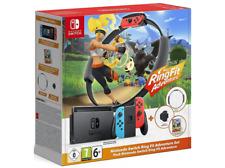 Nintendo Switch Ring Fit Adventure Set de Ring-Con, Cinta de Pierna y Codigo para Descarga de Ring Fit Adventure - Negros