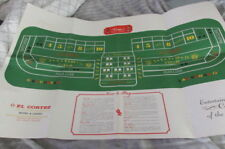El Cortez-How To Play Dice Instructions And a 20 By 40 Table Top Layout Sheet