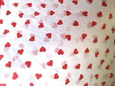 """12 Sheets Red Heart Valentine Tissue Paper~20""""x30""""~H eart-Love Gift Wrap Tissue"""