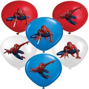 "12"" Spiderman Latex Balloons Birthday Party Decoration Kids Loot Bag"
