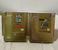 Nintendo NES Gold The Legend of Zelda & Zelda II The Adventures of Link Games