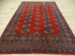 Alter Feiner Handgeknüpfter Perser Orientteppich Buchara Jomut Carpet 150x100cm