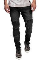 Herren Jeans Hose Regular Skinny Fit Jeanshose Schwarz Basic Stretch John Kayna
