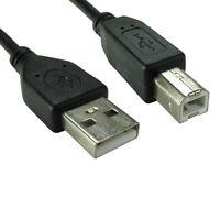 1m USB 2.0 High Speed Cable Printer Lead A to B Black Shielded Epson Kodak HP