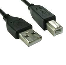 1m USB 2.0 High Speed Cable Printer Lead A to B Black Shielded Epson Kodak HP