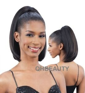 FREETRESS EQUAL SYNTHETIC DRAWSTRING HAIR PONYTAIL STRAIGHT YAKY BOUNCE 14 INCH