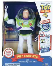 Disney Toy Story 4 Interactive Buzz Lightyear 38cm Figure Drop Down Action NEW