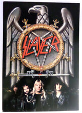 SLAYER- EAGLE LOGO-BAND MEMBERS POSTCARD FROM EARLY 90'S