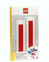 "LEGO Stationery Yellow Buildable 6/""-12/"" Ruler Building Bricks NEW #52394"