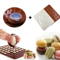 Macaroon Baking Mold Silicone Pot Sheet Mat Nozzles Set Oven Decorative Mould