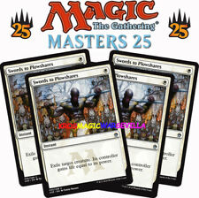 MTG 4 X SWORDS TO PLOWSHARES - Espadas en guadañas - MASTERS 25 ENGLISH Magic